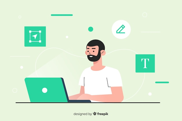 Concept de processus de conception pour la page de destination
