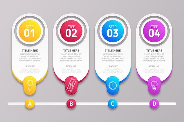 Concept de processus infographique étapes
