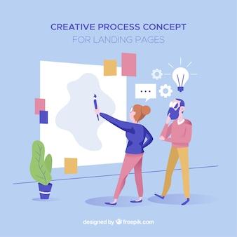 Concept de processus pour la page de destination