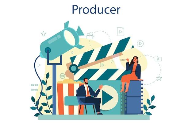 Concept de producteur. production de films et de musique.