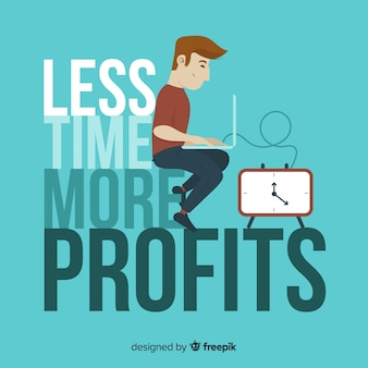 Concept de productivité moderne avec un design plat