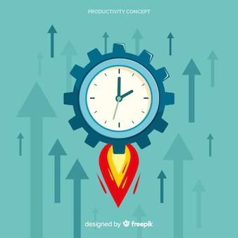 Concept de productivité moderne dessiné à la main