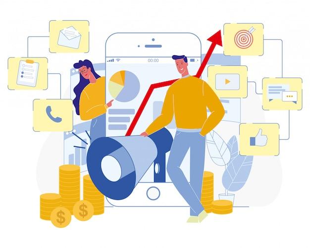 Concept professionnel de spécialiste en marketing numérique.