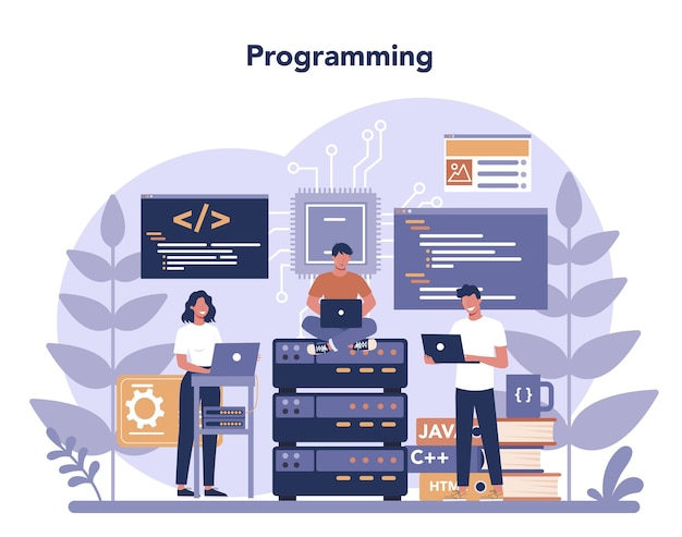 Concept de programmation au design plat