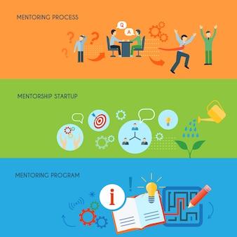 Concept de programme de processus de mentorat de l'éducation en relations publiques d'affaires