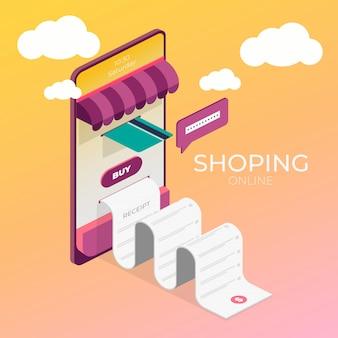 Concept de promotion. illustration de supermarché