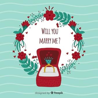 Concept de proposition de mariage
