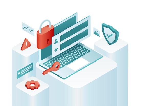 Concept de protection des données. données d'accès au logiciel confidentielles.