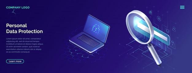 Concept de protection des données personnelles, sécurité du compte