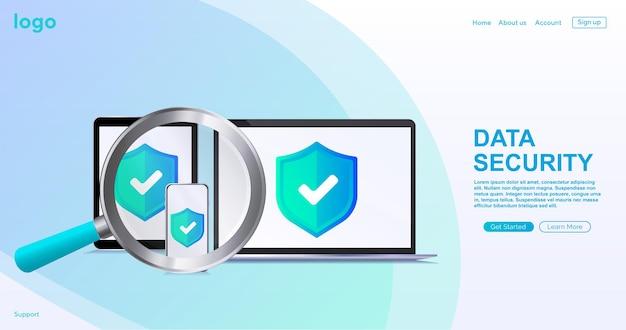 Concept de protection des données protection de la sécurité des données sécurité et protection antivirus centre de données