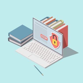 Concept de protection des données.