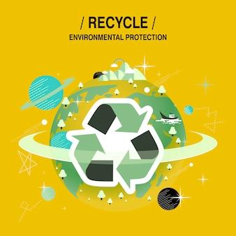 Concept de protection de l'environnement dans un style design plat