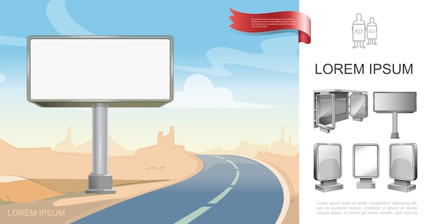 Concept de publicité d'entreprise en plein air