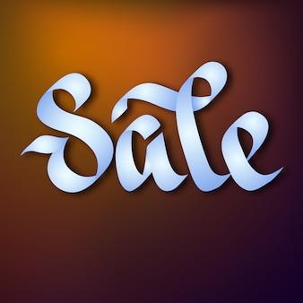 Concept de publicité typographique avec calligraphie élégante