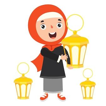 Concept de ramadan kareem et culture islamique