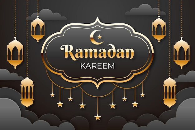 Concept de ramadan plat