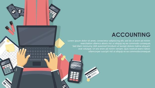 Concept de rapport financier. comptabilité.