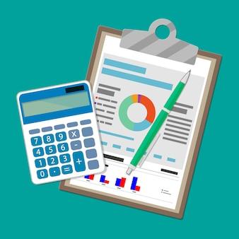 Concept de rapport financier. fond d'affaires.