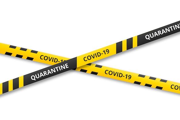 Concept de rayures de quarantaine réaliste