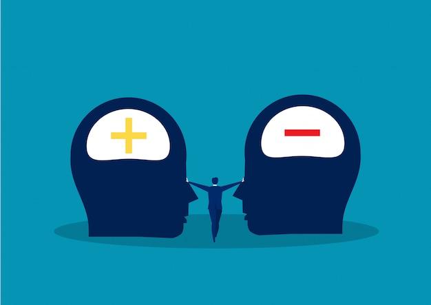 Concept de réaction positive ou négative