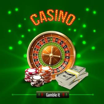 Concept réaliste du casino