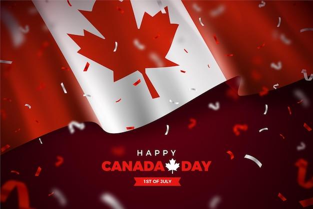 Concept réaliste de la fête du canada
