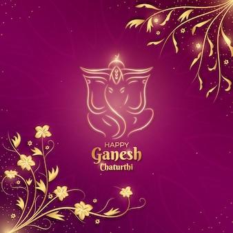Concept réaliste de ganesh chaturthi