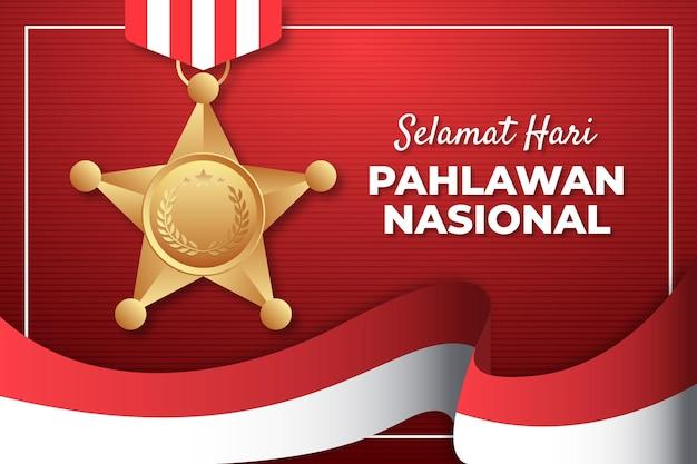 Concept réaliste de hari pahlawan ou de jour des héros
