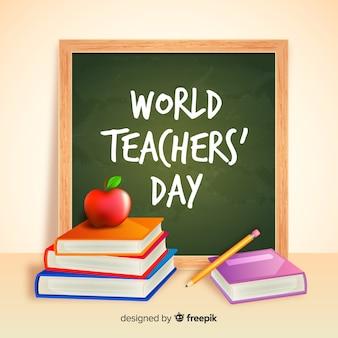Concept réaliste de la journée des enseignants