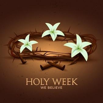 Concept réaliste de la semaine sainte