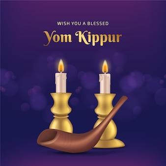 Concept réaliste de yom kippour