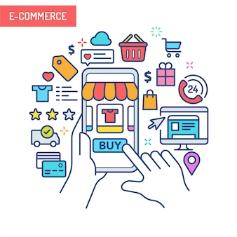 Concept de réalité augmentée - e-commerce