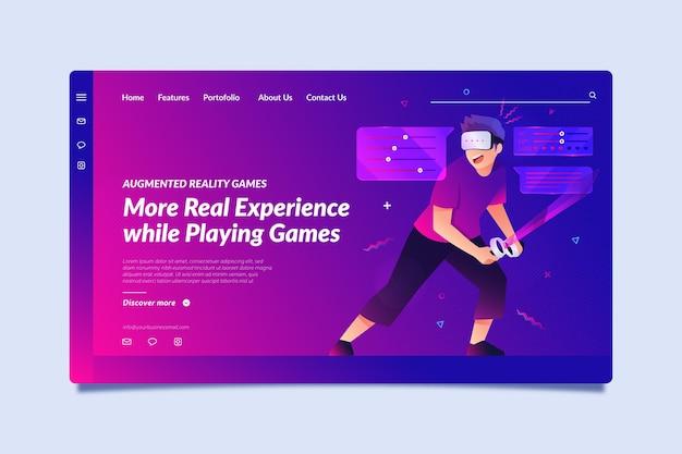 Concept de réalité augmentée - page de destination