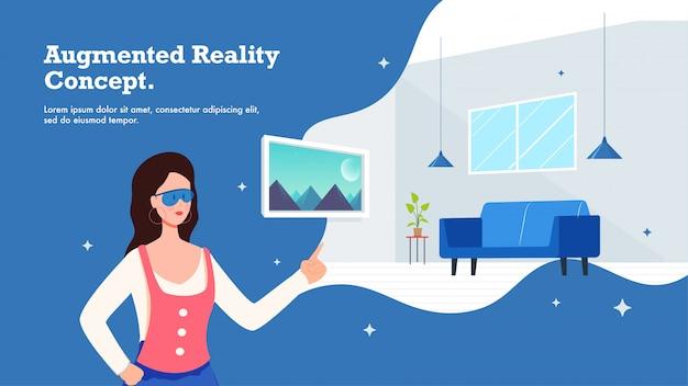 Concept de réalité augmentée.