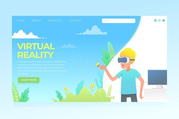 Concept de réalité virtuelle - page de destination