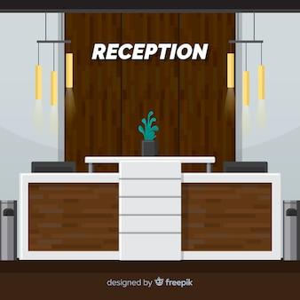 Concept de réception plat créatif