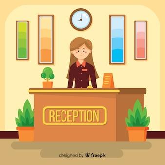 Concept de réception à plat