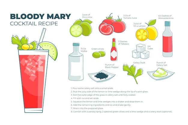 Concept de recette de cocktail