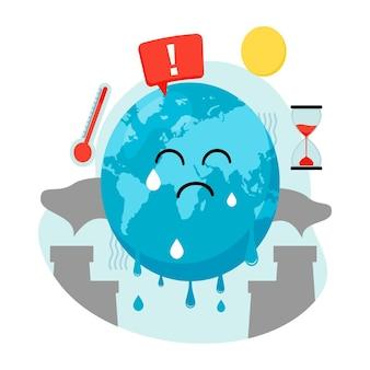 Concept de réchauffement global et de changement climatique