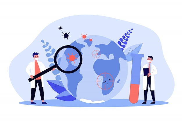 . concept de recherche sur l'épidémiologie et les flambées pandémiques