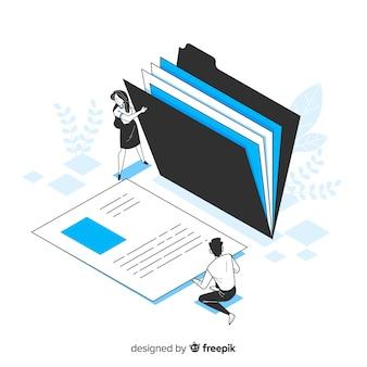 Concept de recherche de fichier pour la page de destination