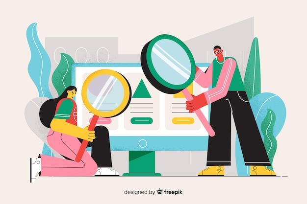 Concept de recherche illustration page de destination