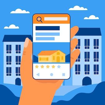 Concept de recherche immobilière