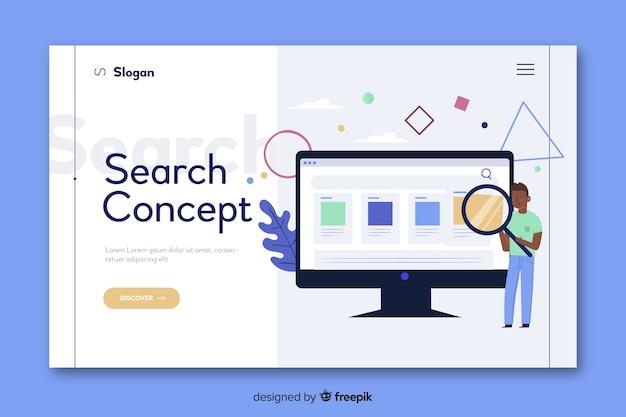 Concept de recherche pour la page de destination