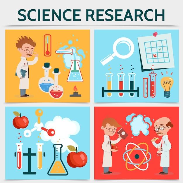 Concept de recherche scientifique plat