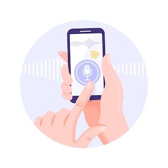 Concept de reconnaissance vocale.