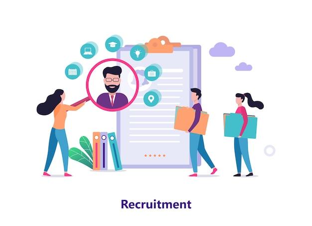 Concept de recrutement. idée d'emploi et humaine