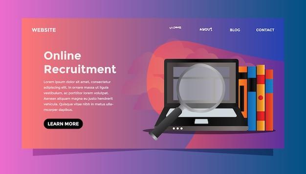 Concept de recrutement en ligne.