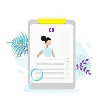 Concept de recrutement de personnel professionnel, demande d'emploi, embauche de personnel, sélection de candidats. illustration vectorielle plane.