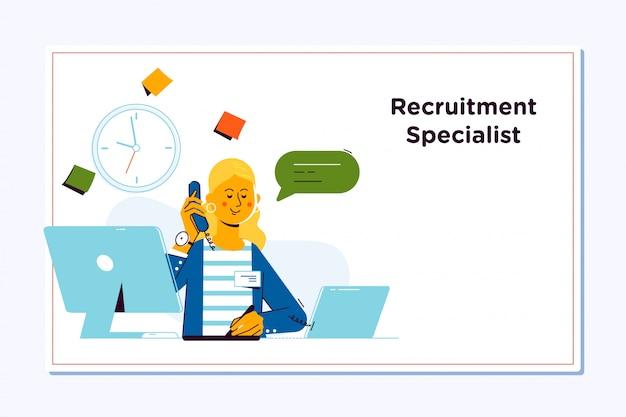 Concept de recrutement pour une page web